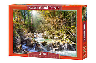 """Пазлы Castorland 2000 - """"Лесной ручей"""". Быстрая доставка. Производство Польша. Гарантия качества."""