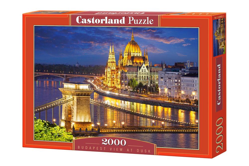 """Пазлы Castorland C-200405 """"Закат Будапешт"""" на 2000 элементов (C-200405)"""
