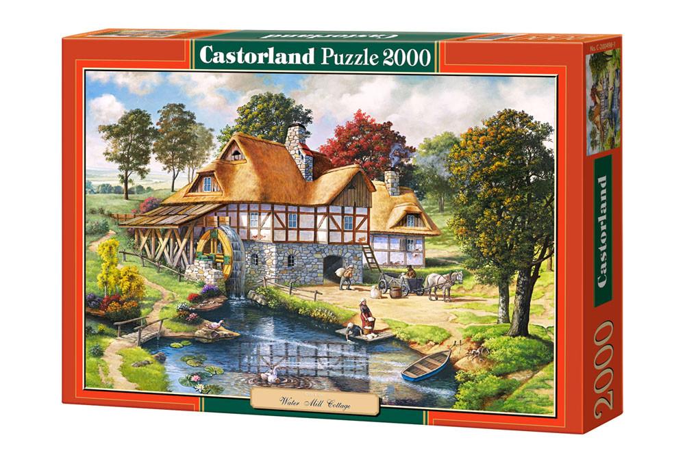 """Пазлы Castorland 2000 - """"Водяная мельница"""". Быстрая доставка. Производство Польша. Гарантия качества."""