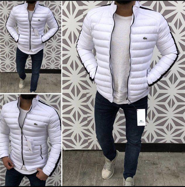 be34ba02c28 Куртка мужская Lacoste D4986 белая - купить по лучшей цене