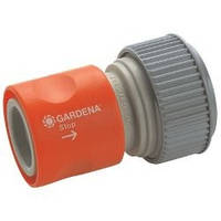 Коннектор стандартный с автостопом Gardena 19мм (3/4'') и 16мм (5/8'')