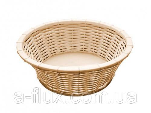 Корзинка для хлеба или фруктов D20 см бежевая APS 40213