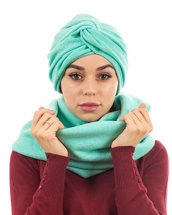 Тюрбан+шарф мятный, фото 2