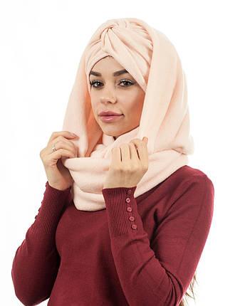 Тюрбан+шарф персик, фото 2