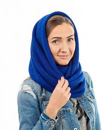 Шарф-снуд синий, фото 2