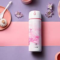 Термос Relea Pearl 420 мл Бело-розовый (JV0502030)