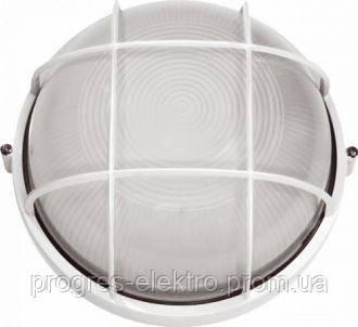 Светильник герметичный круг 60W с реш. белый
