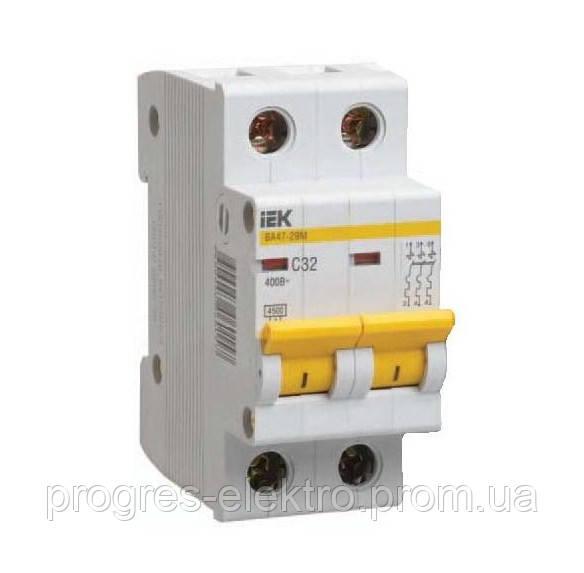 Автоматический выключатель ИЭК ВА47-29М 2р/С63А