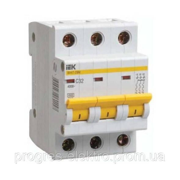Автоматический выключатель ИЭК ВА47-29М 3р/C32А