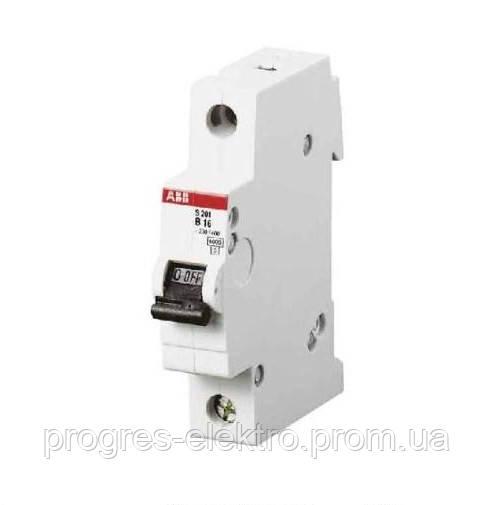 Автоматический выключатель SH 201-C 1p 16A ABB