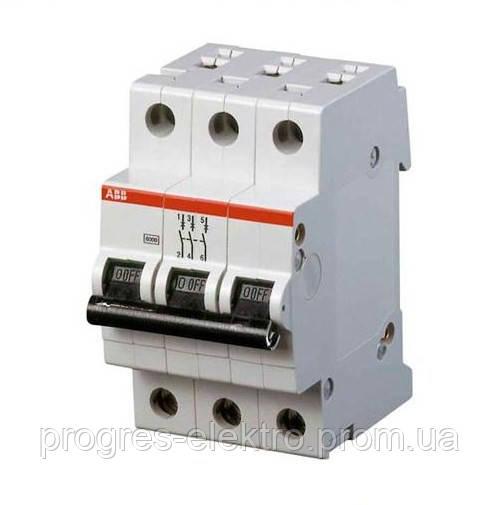 Автоматический выключатель SH 203-C 3p 25A ABB