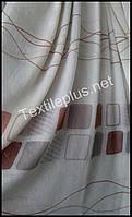 Тюль батист Агнесса с абстракцией (kod 2719)