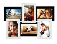 Мультирамки деревянные на 6 фото 10х15 см, 50х33см (9 вариантов расцветки)
