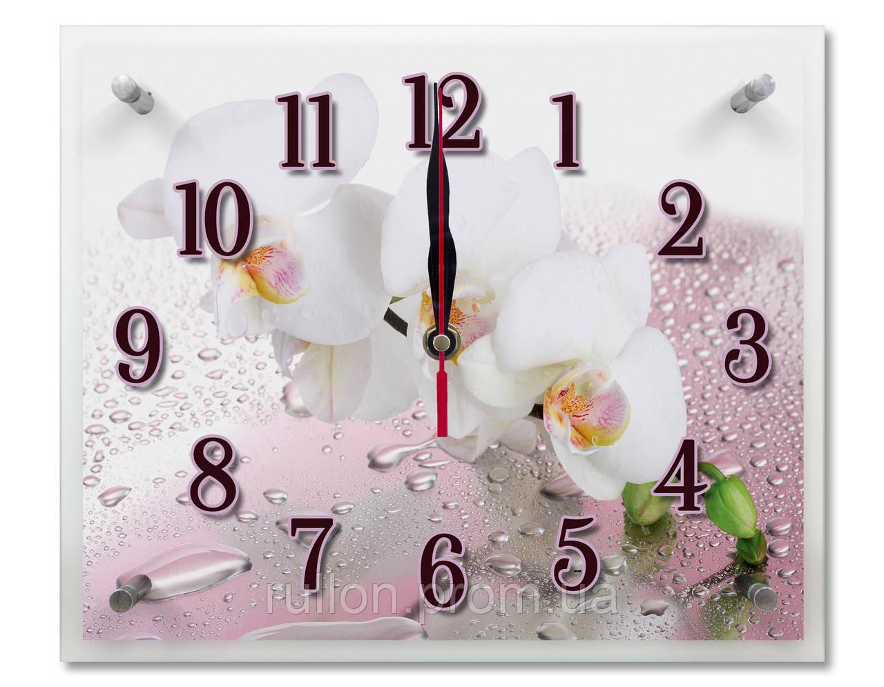 Часы настенные с картиной под стеклом YS-Art 25х30см (PR003)