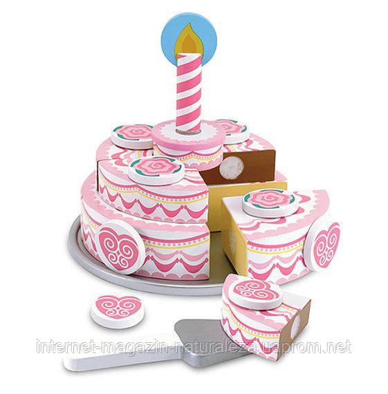 Игровой деревянный набор Трехъярусный праздничный торт Melissa&Doug