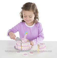 Игровой деревянный набор Трехъярусный праздничный торт Melissa&Doug, фото 3
