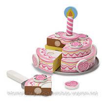 Игровой деревянный набор Трехъярусный праздничный торт Melissa&Doug, фото 2