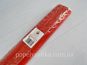 Креп папір 50 см *2,5 м металізований червоний