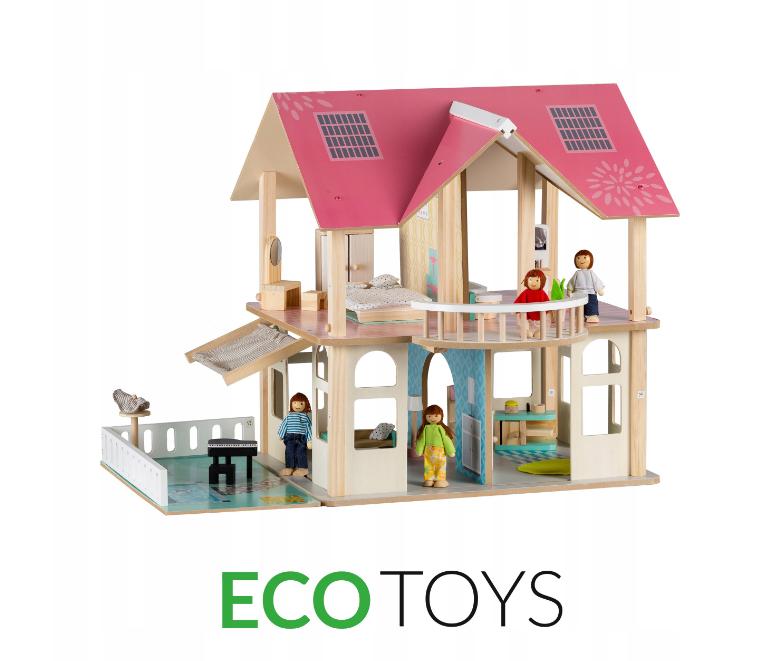 Великий ляльковий будиночок Ecotoys 4103 Dreams + 4 ляльки
