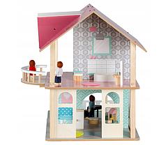 Большой игровой кукольный домик 4103 Dreams + 4 куклы, фото 2
