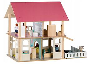 Большой игровой кукольный домик 4103 Dreams + 4 куклы, фото 3