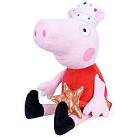"""Мягкая игрушка """"Свинка Пеппа Принцесса"""" 28 см ТМ Копиця"""