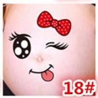 Веселые наклейки на беременный животик для фотосессии №18