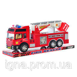 ZY Пожарная машина 8822 (60шт) инер-я, 30см, подвижные детали, в слюде, 34-14-10см