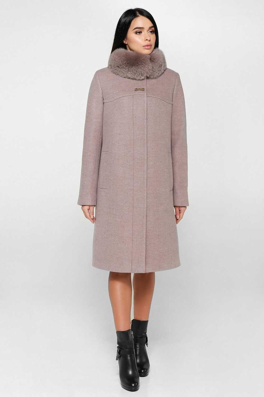 Пальто зимове шерстяне з натуральним воротніком  продажа 21b281d6b48ed