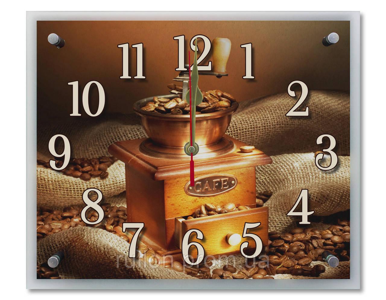 Часы настенные с картиной под стеклом YS-Art 25х30см (PR024)