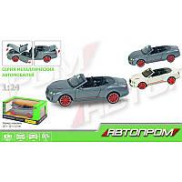 Машинка Bentleyкабриолет Автопром68259A, металлическая, масштаб:1:24, световойи звуковойэффект