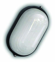Светильник герметичный овал 60W без реш. черный