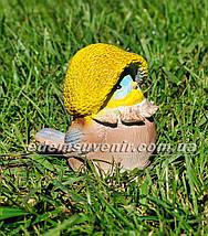 Садовая фигура Синичка грибочек, фото 3