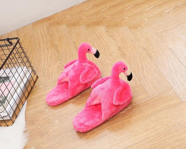 Плюшевые Тапочки Фламинго