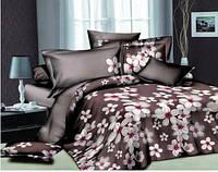 Комплект постельного белья, Микрофибра 3D, Яблони в цвету, Евро