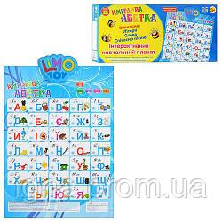 JT Плакат 7027 (12шт) говорящий, УКР. азбука, на бат-ке, в кор-ке, 49,5-23,5см