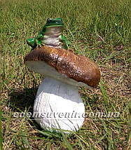 Садовая фигура Гриб с жабкой, фото 2