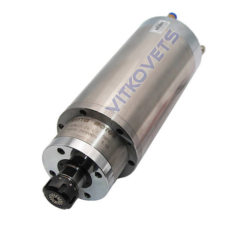 Шпиндель с увеличенным вращающим моментом RTM125-24/4.0, 4kw ER25 125мм водяное охлаждение, фото 2