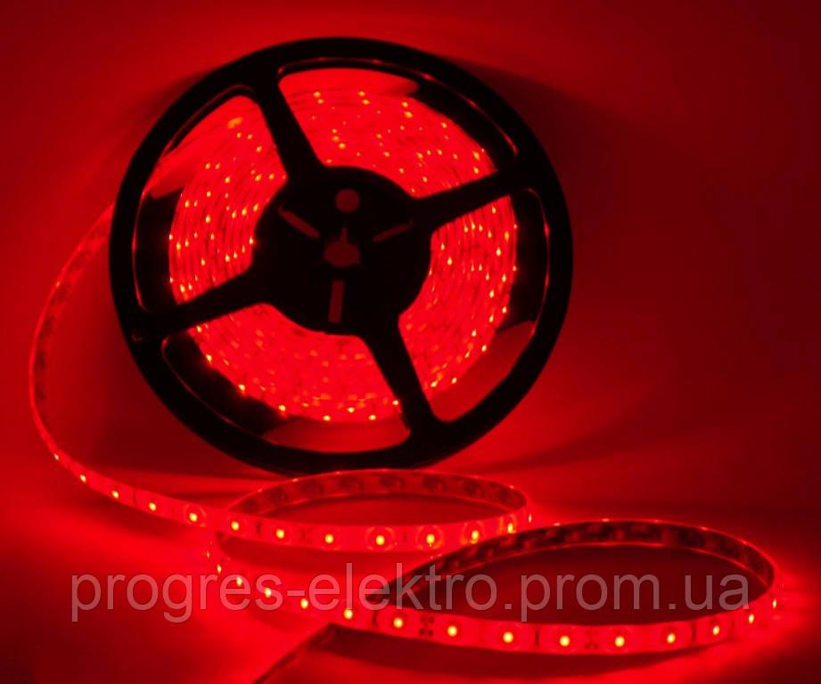 Светодиодная лента Силикон Красная 12В 5м 60LED/м Lemanso