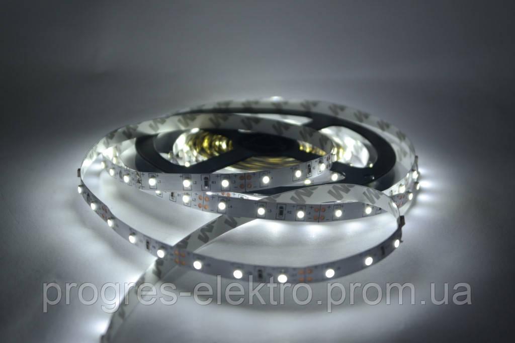 Светодиодная лента БЕЗ силикона 12В Холодно белая 60/м