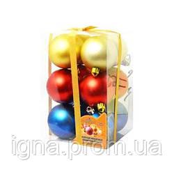 768 Елочные шарики 6см 12шт/кор (48уп)