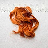 Волосы для Кукол Трессы Крупная Волна РЫЖИЕ 25 см