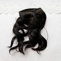 Волосы для Кукол Трессы Крупная Волна ЧЕРНЫЕ 25 см