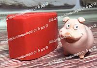 ЭКСКЛЮЗИВ! Силиконовый молд для мастики и шоколада  Свинка мини №1 ЗД