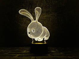 "Сменная пластина для 3D ламп ""Кролик"" 3DTOYSLAMP"