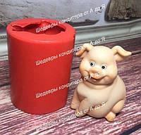 ЭКСКЛЮЗИВ! Силиконовый молд для мастики и шоколада  Свинка ХЛ №2 ЗД