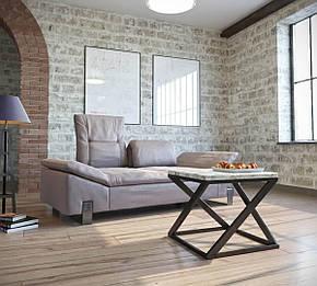 Стіл журнальний, кавовий металеву основу сучасного дизайну в стилі loft Бент Метал-Дизайн, фото 2