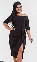 Платье 851630-2 черный (5 расцветок) с 42 по 56  размер (мш)