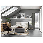 Двуспальная кровать IKEA MALM 160х200 см 2 ящика Luröy белая 791.759.83, фото 6