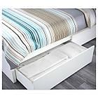 Двуспальная кровать IKEA MALM 160х200 см 2 ящика Leirsund белая 391.761.59, фото 3